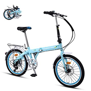 Ligera Bicicleta Plegable,Adulto Folding Bike con Doble ...