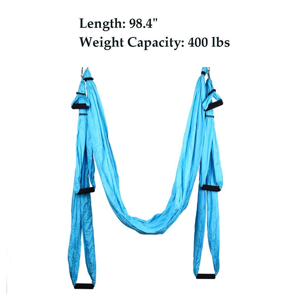 Budalga Yoga Swing Sling Trapeze Inversion Equipment Flying Yoga Hammock Anti-Gravity by Budalga (Image #5)