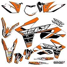 Senge Graphics Early 2001 KTM SX (Has the same plastics as the 2000 SX 250), Fly racing Orange Graphics Kit