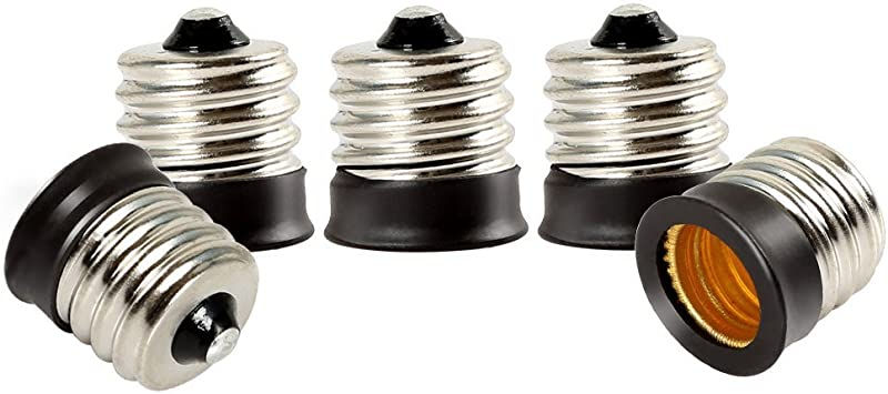 10pcs US E12 To E17 Candelabra Base Socket LED Light Bulb Lamp Adapter Converter