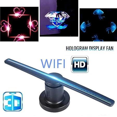 SHELLTB Holograma 3D WiFi Pantalla de Publicidad Led Fan ...