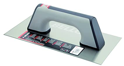 Bellota 5861-1 BIM INOX Llana recta acero inoxidable mango bimaterial, 300x150 mm