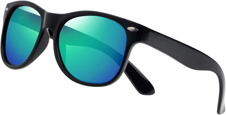 Amazon.com: YAMAZI Kids Sunglasses Polarized Fashion Mirrored Sports  Unbreakable for Boys Girls Toddler Children (Black | Green lens): Clothing