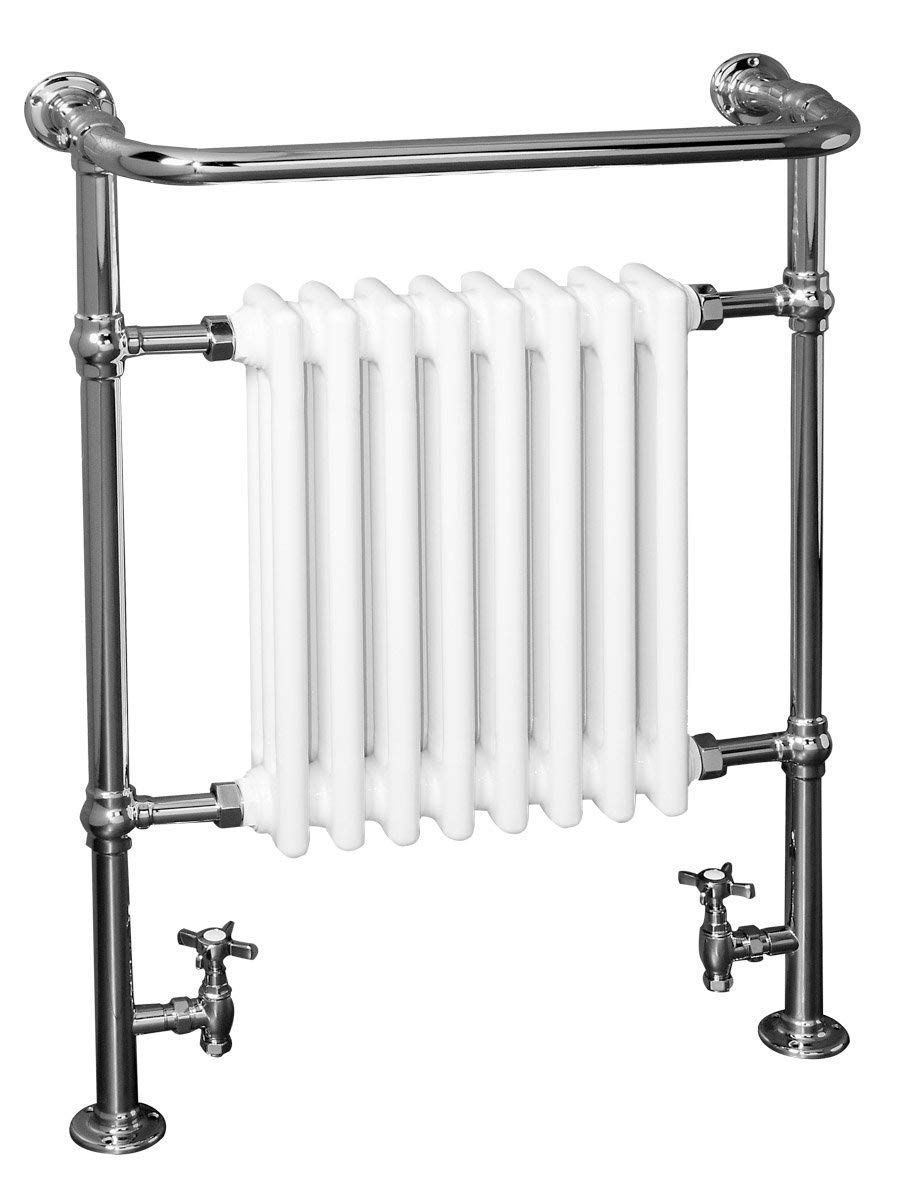 Traditional Victorian Heated Towel Rail Radiator 940 x 659mm ...
