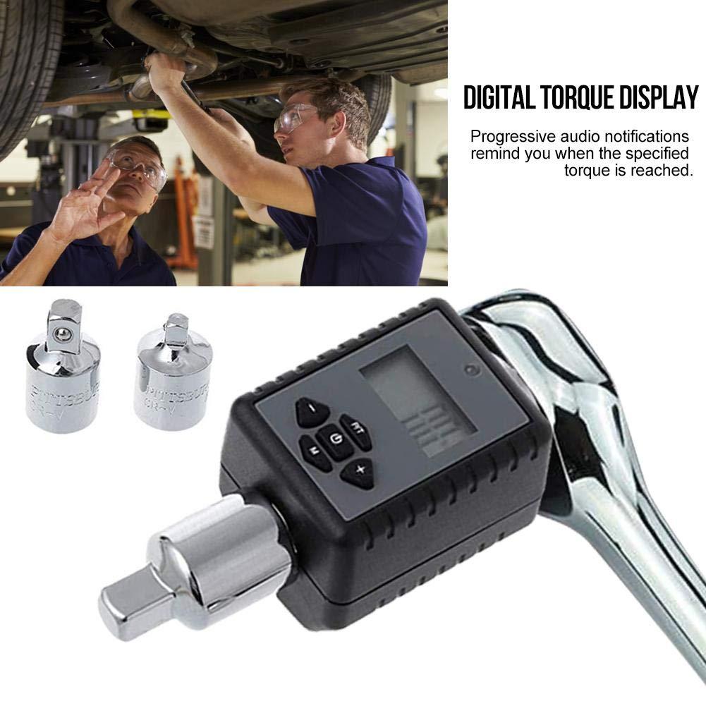Likeitwell Professional Electronic Torque Wrench Llave de torque ajustable para reparaci/ón de bicicletas Coche Digital Pantalla f/ácil de usar