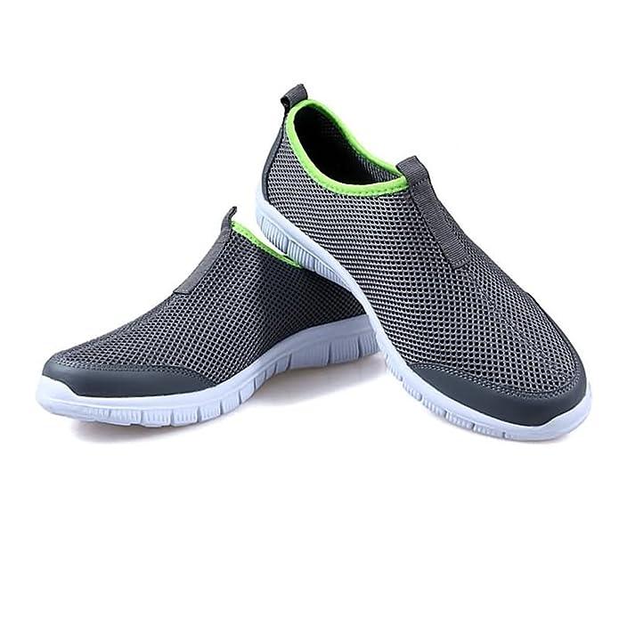 Chaussures de Sport pour Hommes Vamp Sneaker Talon Plat Lace Up à la Mode,Chaussures de Cricket (Color : Green, Size : 43EU)