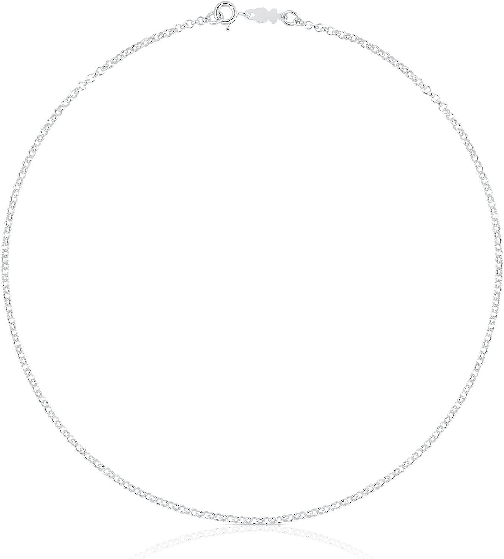 TOUS Collar cadena Mujer Plata de Primera Ley - Largo 40 cm