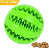 CAVN Soft Rubber Toy IQ Treat Ball for Dogs and Cats (Dental Treat and Bite Resistant) Durable Non-Toxic Strong Tooth Cleaning Dog Feed Ball for Pet IQ Training/Chewing/Playing, Dog Chew Toys