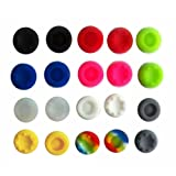 COCOSO 20 PCS Silicone Analog Controller Thumb Stick Grips Cap Cover for PS2 PS3 Xbox 360 Game Accessories Replacement Parts