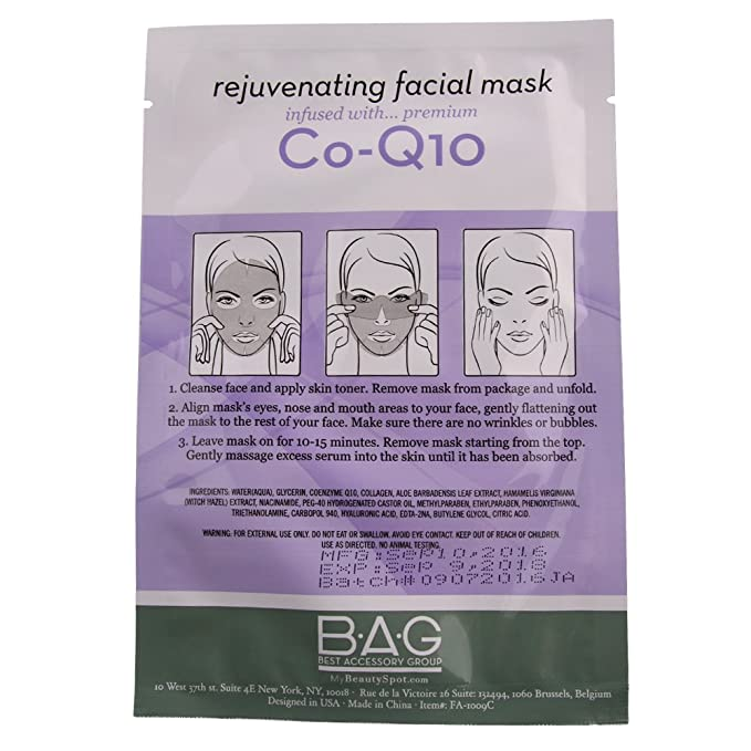 My Beauty Spot 5 Pack Co-Q10 Facial Masks: Amazon in: Beauty