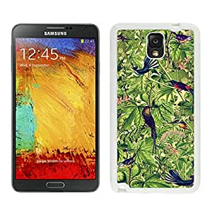 Graceful Samsung Note 3 White TPU Case Birds Durable Silicone Covers