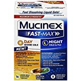 Mucinex Fast-Max Liquid Gels - Day Severe Cold & Night Cold & Flu 24 ct. (Pack of 12)