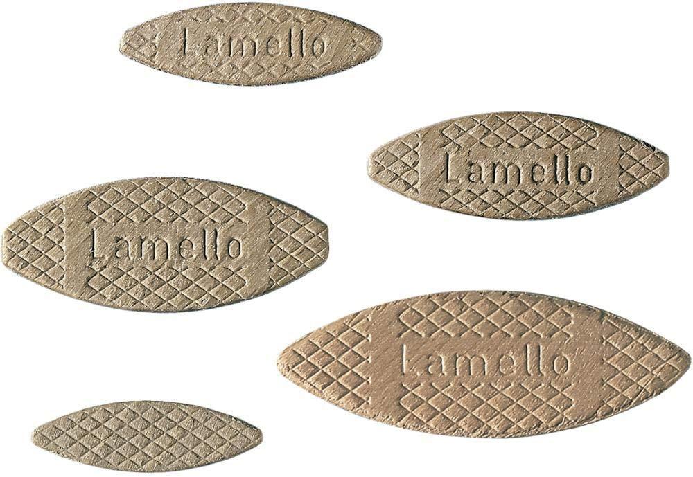 Hausmarke VPE 1000 Lamello Petites plaques de connexion É paisseur 4 mm Hê tre Taille : 20 Dimensions :56 x 23 x 4 mm cut360