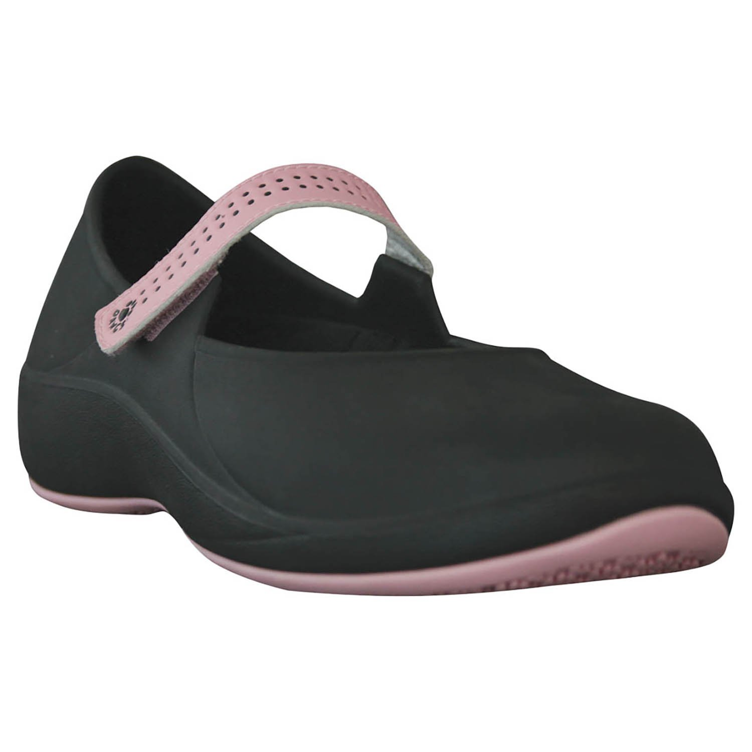 DAWGS Women's Mary Jane Pro Slip Resistant Work Shoe B004M0T1RW 6 B(M) US|Black/Soft Pink