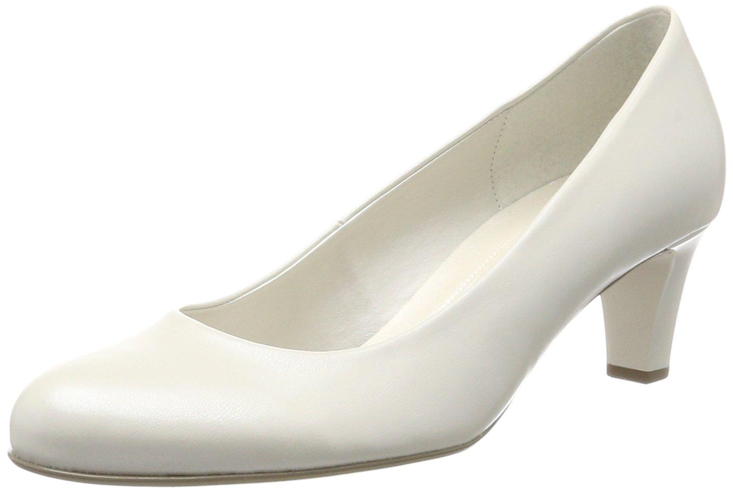 Gabor Shoes Gabor Basic, Zapatos de Tacón para Mujer 43 EU|Blanco (Off-white+absatz)