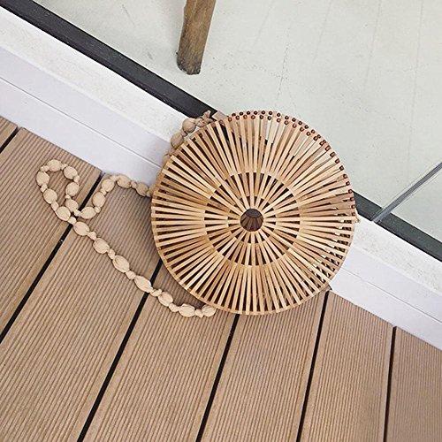 Handmade Shopping Basket Aediea Casual Bamboo Vacation 2 Women Beach Handbags Totes qqtpXF