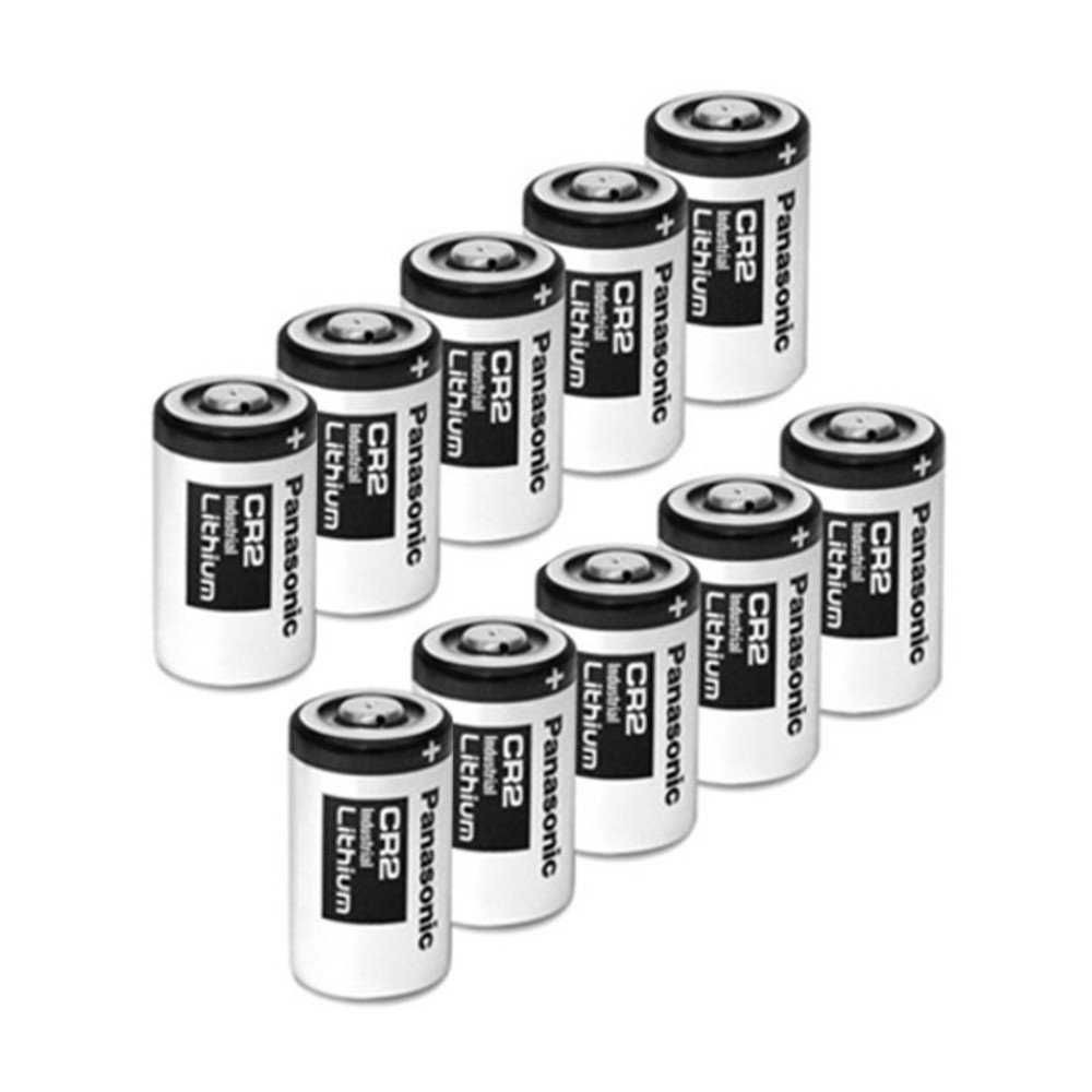 Panasonic CR2-10PK Photo Lithium 3V Batteries for Mini 25, Mini 50, Mini 50S, Mini 55, Pivi MP-100 and SP-1- Silver (Pack of 10)