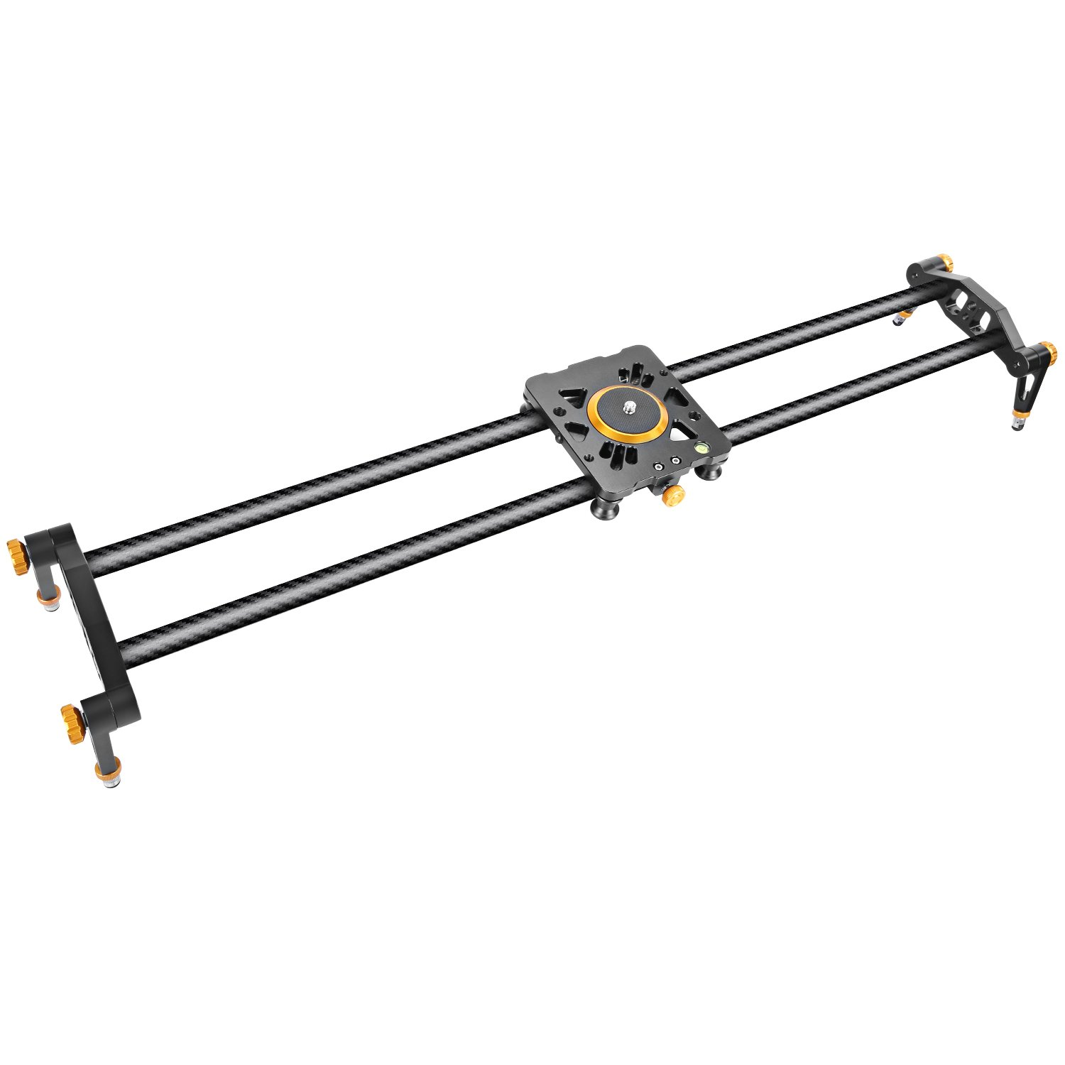 Neewer 23.6 inches/60 centimeters Carbon Fiber Camera Track Slider Video Stabilizer Rail with 6 Bearings for DSLR Camera DV Video Camcorder Film Photography, Load up to 17.5 pounds/8 kilograms by Neewer