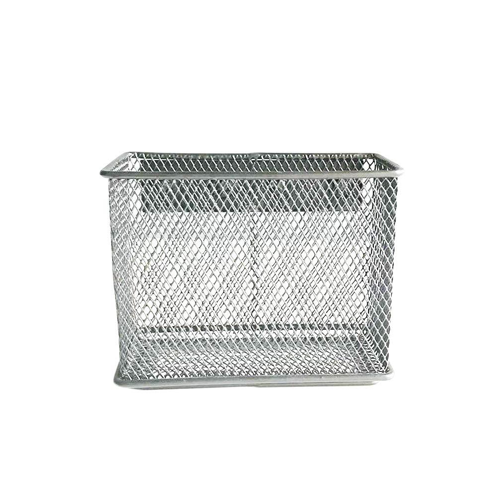 organizador de oficina malla superficie magn/ética nevera cesta de almacenamiento para pizarra papel cierre magn/ético de metal soporte para archivos//l/ápices Ahorro de espacio