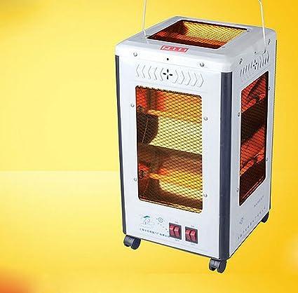 JRM Quot; Cuarteto Estufa Estufa Manija Calefactor Calefacción Eléctrica Ventilador de Calefacción,Blanco