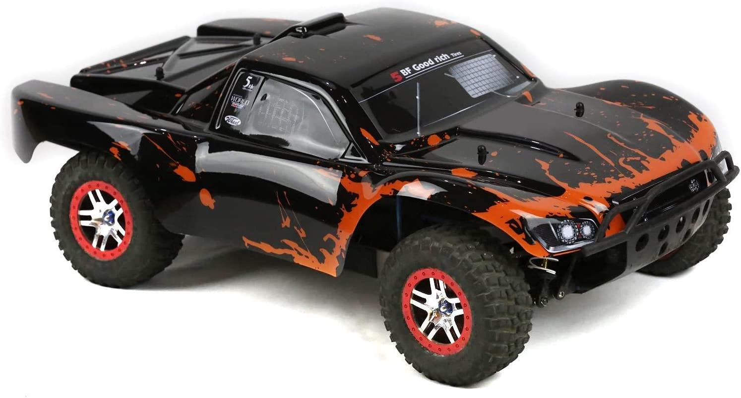 Amazon Com Summitlink Compatible Custom Body Muddy Orange Over Black Replacement For 1 10 Scale Rc Car Or Truck Truck Not Included Ss Br 01 Toys Games