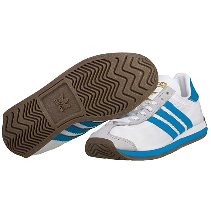 new product b2ebc bcbc9 Adidas Country OG - B24757 - Color White-Grey-Blue - Size 4.0 Amazon.ca  Shoes  Handbags