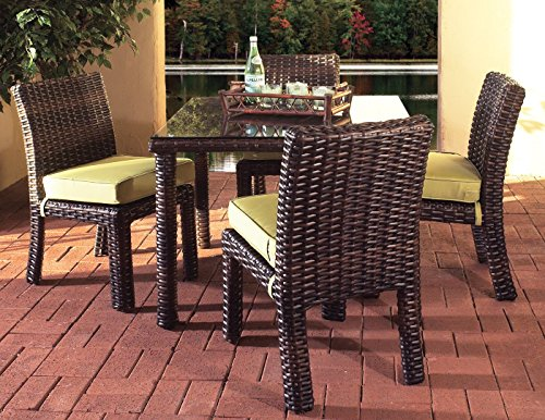 St. Tropez 5-Piece Square Dining Table by South Sea Rattan Stone (Table South Rattan Rattan Sea)