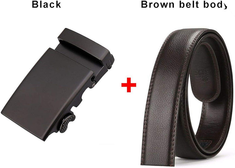 vintage belt metal automatic buckle leather belts for men male ratchet buckle belts