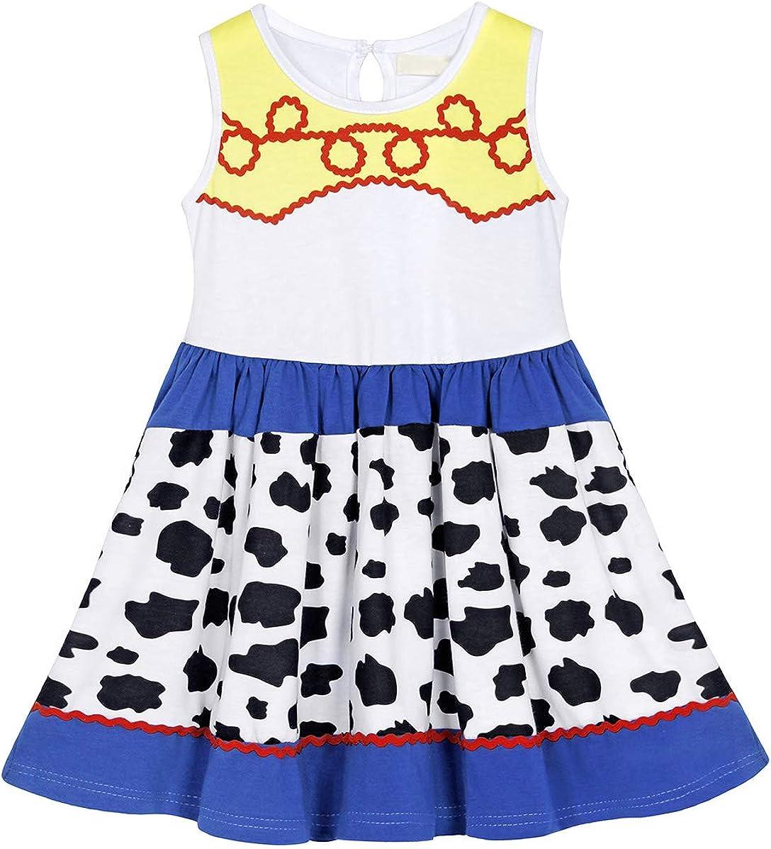HenzWorld Little Girls Costume Dress Princess Birthday Cosplay Party Outfits Pajamas Sleeveless 3D Print