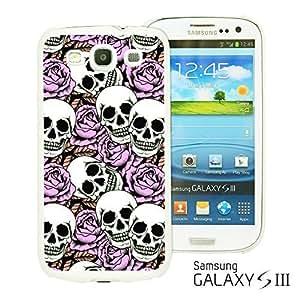 OnlineBestDigital - Skull Pattern Hardback Case for Samsung Galaxy S3 III I9300 - Skull With Purple Roses
