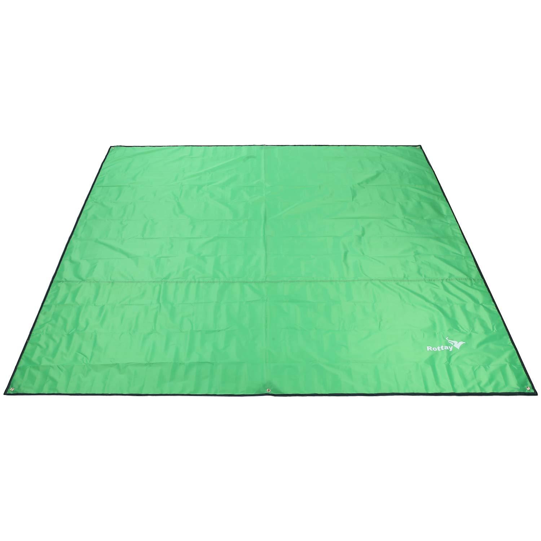 Rottay Waterproof Camping Tarp, Picnic and Beach Mat,Tent Footprint, and Sunshade,Hiking (Green 87'' x 94'') by Rottay