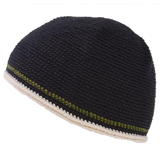 8ed761cbfbf Casualbox CHARM Mens Skull Cap Cotton Kufi Beanie Hand Made Knitted Hat  Elastic Tight Japanese Womens
