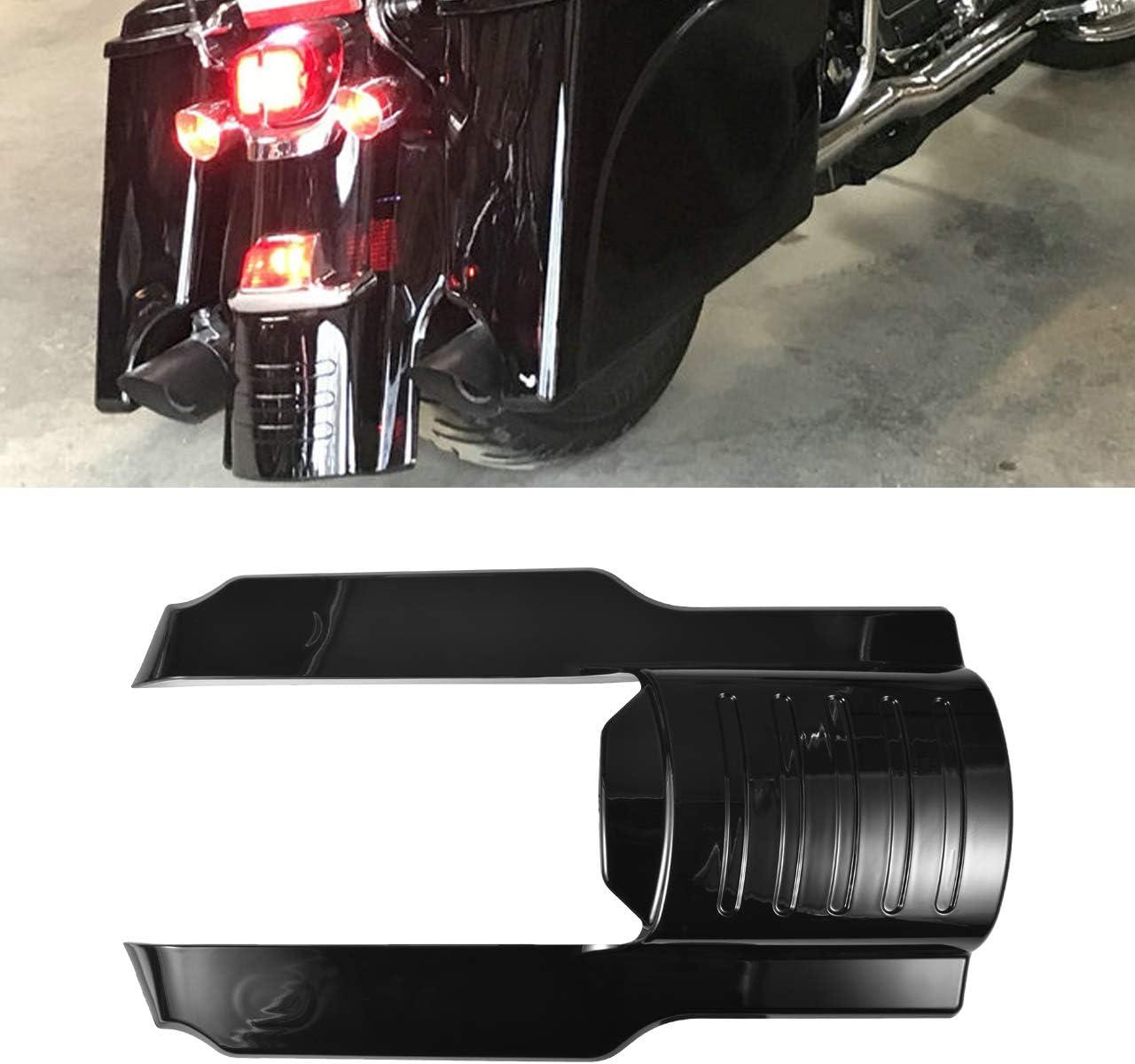 XMMT Motorcycle Vivid//Gloss Black 5 Rear Fender Extension Stretched Filler for Harley Touring Street Gilde Road Gilde 2009-2013