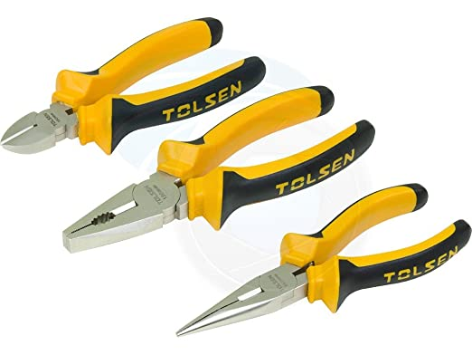 3pcs Insulated Combination Long Nose Diagonal Side Cutting Pliers Set - - Amazon.com