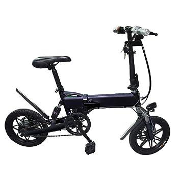 Lvbeis Adultos Bici Electrica Plegable Bicicleta con Asistidas Al Pedaleo PortáTil E-Bike 28 KM/h Bicicleta con Motor 36v/350w,Black: Amazon.es: Deportes y ...