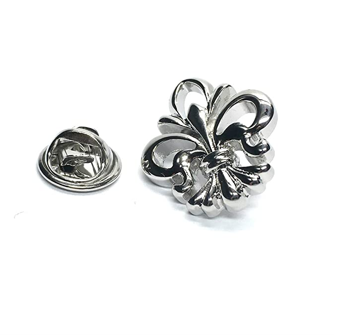Ornate Fleur De Lys Lapel Pin Badge