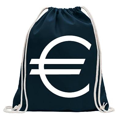 a132273e8a2d2 KIWISTAR - Eurozeichen - Eur Euro Symbol Turnbeutel Fun Rucksack Sport  Beutel Gymsack Baumwolle mit Ziehgurt