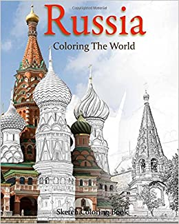 russia coloring the world sketch coloring book travel coloring adults volume 9 - Travel Coloring Book