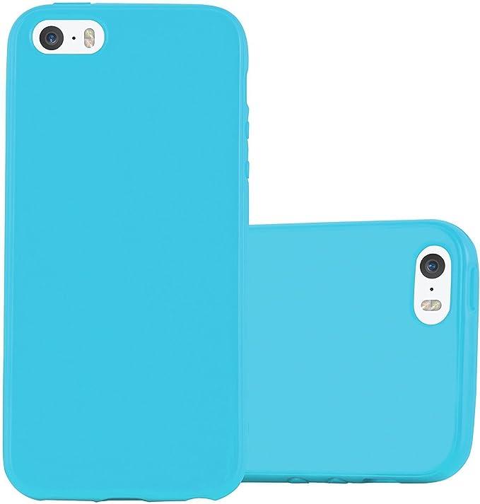 AIsoar Cover per iPhone SE 5S Custodia iPhone 5 Cover Silicone Morbida TPU Case Colore Jelly Protezione Posteriore Popolari Carino Anti-Scratch ...
