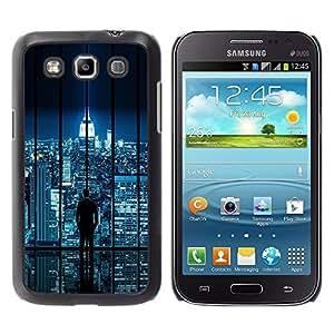 TECHCASE**Cubierta de la caja de protección la piel dura para el ** Samsung Galaxy Win I8550 I8552 Grand Quattro ** City Skyline Sci-Fi Futuristic Night Lights Nyc