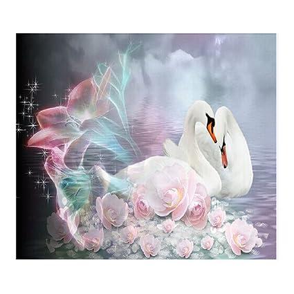 AIHOME White Swan DIY 5D Diamond Embroidery Painting Mosaic Rhinestone Cross Stitch Kits For Home Decor Amazonca Kitchen