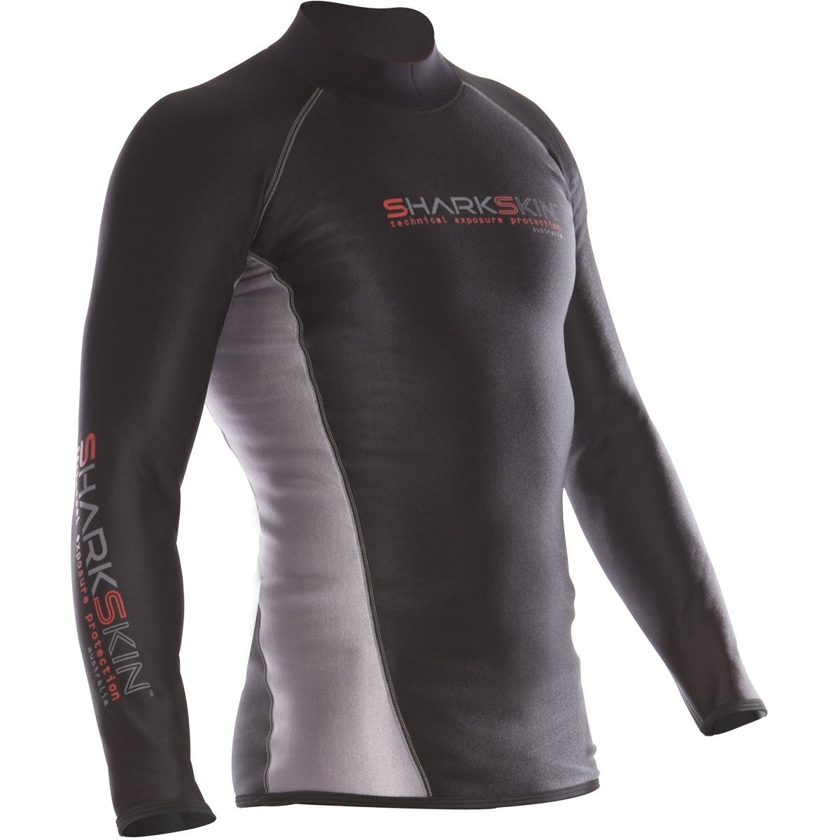 Sharkskin Men's Chillproof Long Sleeve Shirt Wetsuit, Black, X-Large by Sharkskin