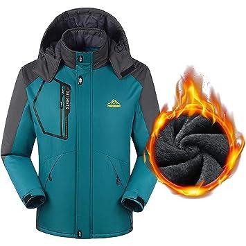 Abrigo De Invierno Impermeable Para El Clima Frío Para Hombre Chaqueta De Terciopelo A Prueba De
