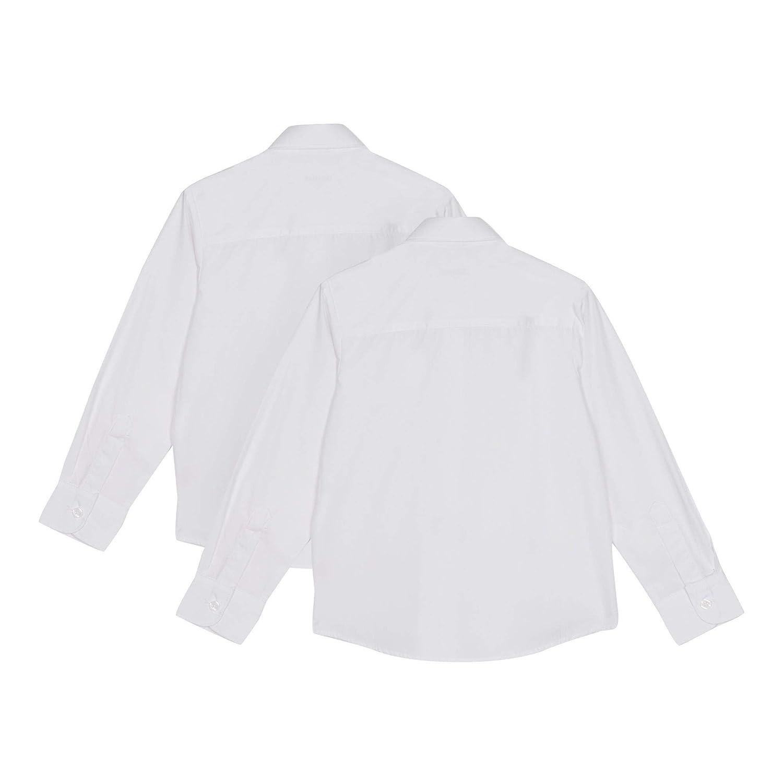 Debenhams Kids 2 Pack Girls White Long Sleeve Regular Fit Blouses