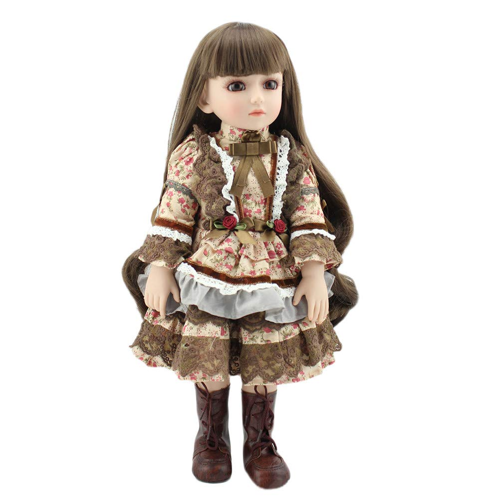 USHOT Lifelike Reborn Newborn Baby Doll Kids Girl Birthday Gift 45cm Multicolored One Size