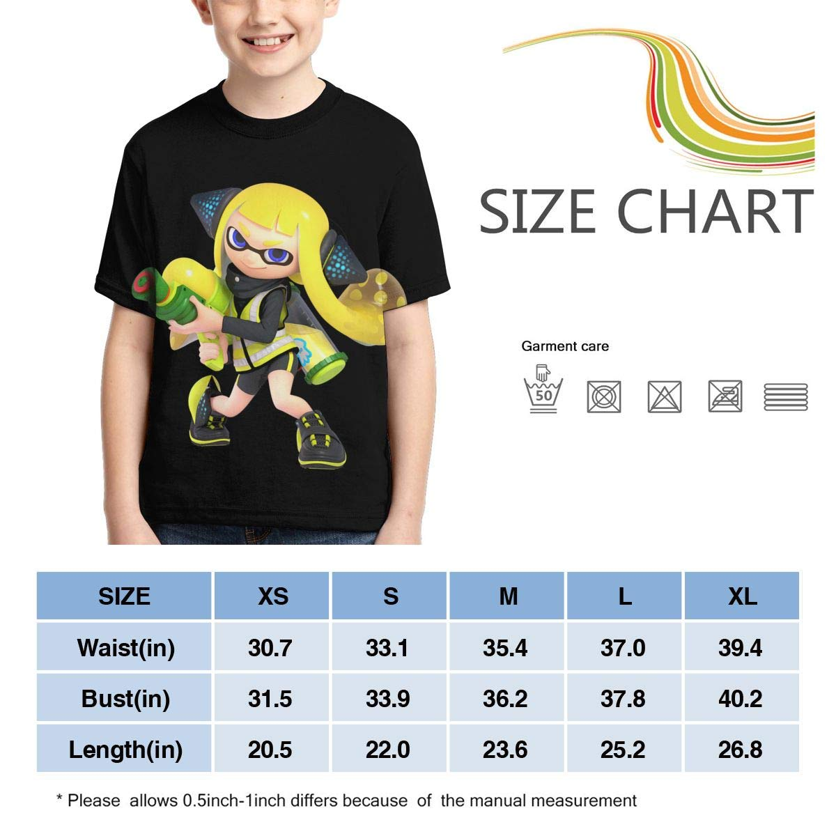 Hatstng Splatoon 2 Boys Girls 3D Print Crew Tee Youth Short Sleeve T-Shirt Tanks Tops