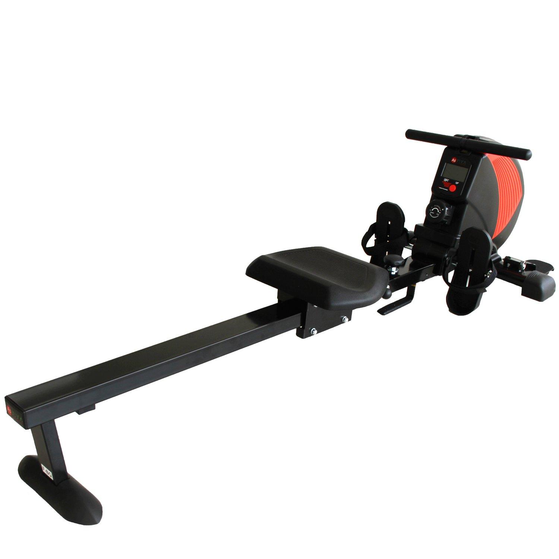 AsVIVA Rudergerät RA8 schwarz   Magnetbremse mit 8 Widerstandsstufen, inkl. Pulsempfänger für optionale Brustgurte (Pulsgurt) natürlich klappbar   Heimtrainer Rower