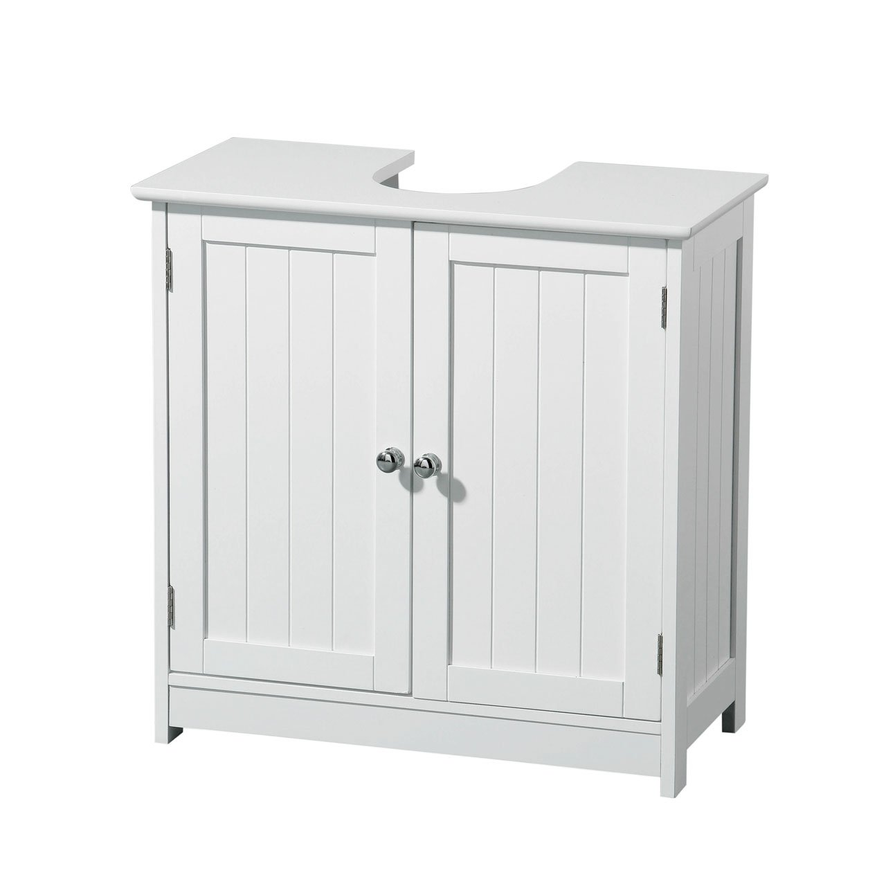 Elegant QUALITY WHITE WOOD UNDER SINK CABINET BATHROOM STORAGE: Amazon.co.uk: DIY U0026  Tools