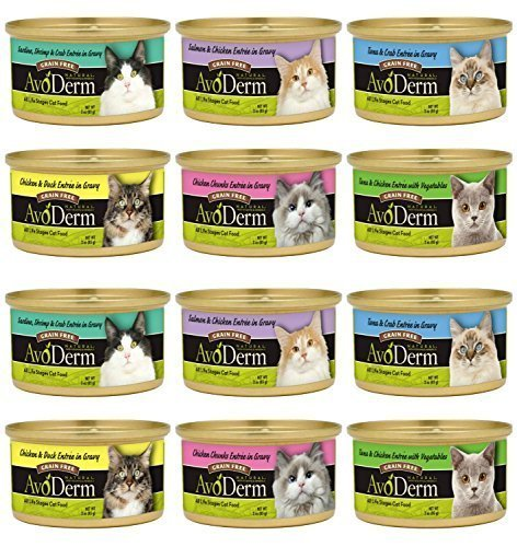 AvoDerm Grain-Free Cat Food 6 Flavor Variety Bundle:  Tuna&C