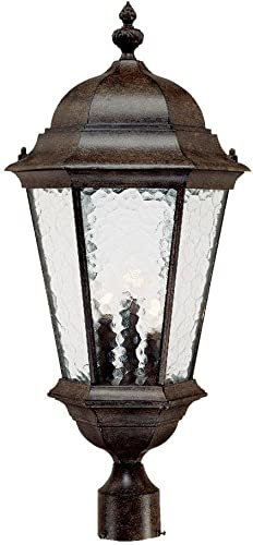 Acclaim 5527BC Telfair Collection 3-Light Post Mount Outdoor Light Fixture, Black Coral